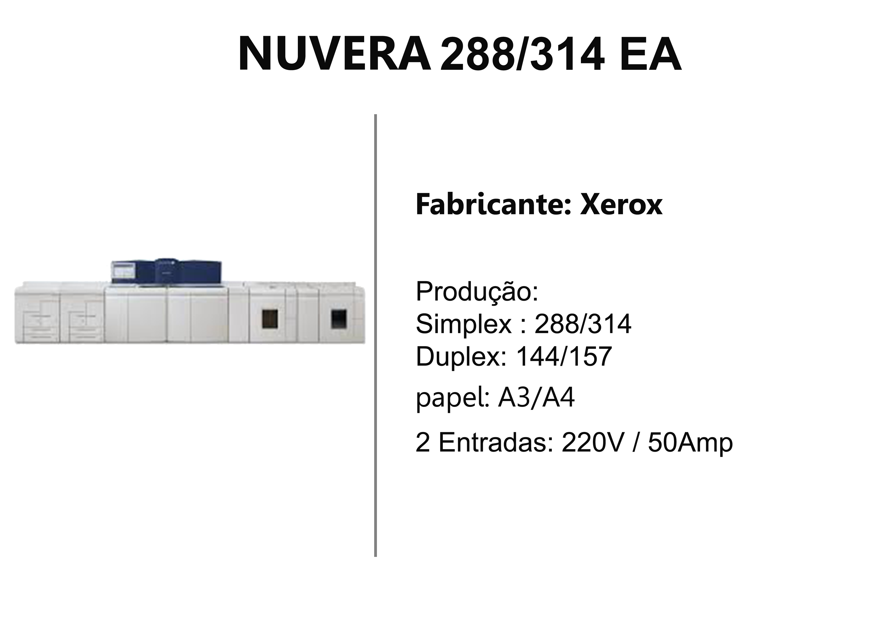 Impressoras Xerox Nuvera 288/314