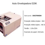 Auto Envelopadora E20K docfinish