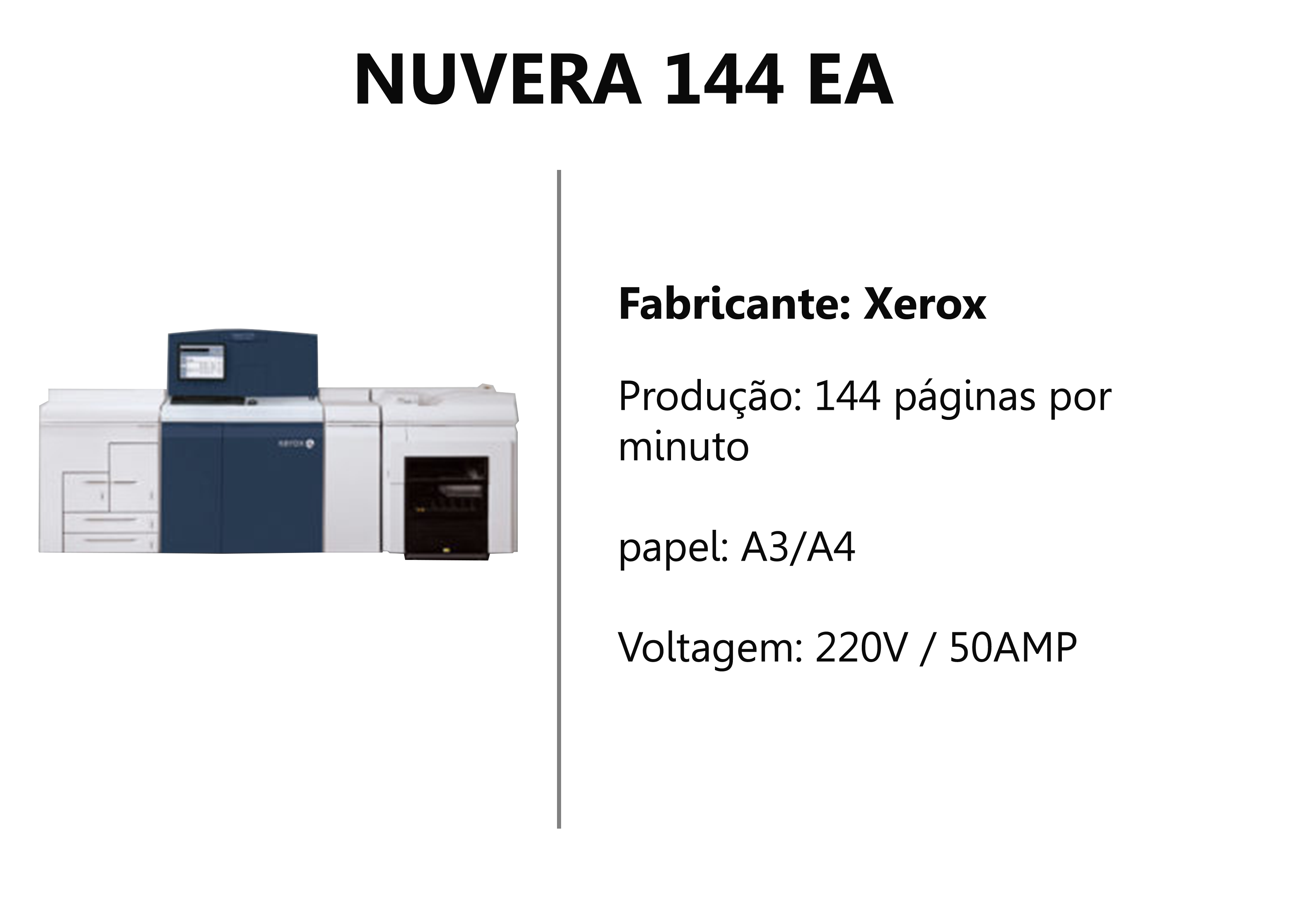 impressora xerox nuvera 144