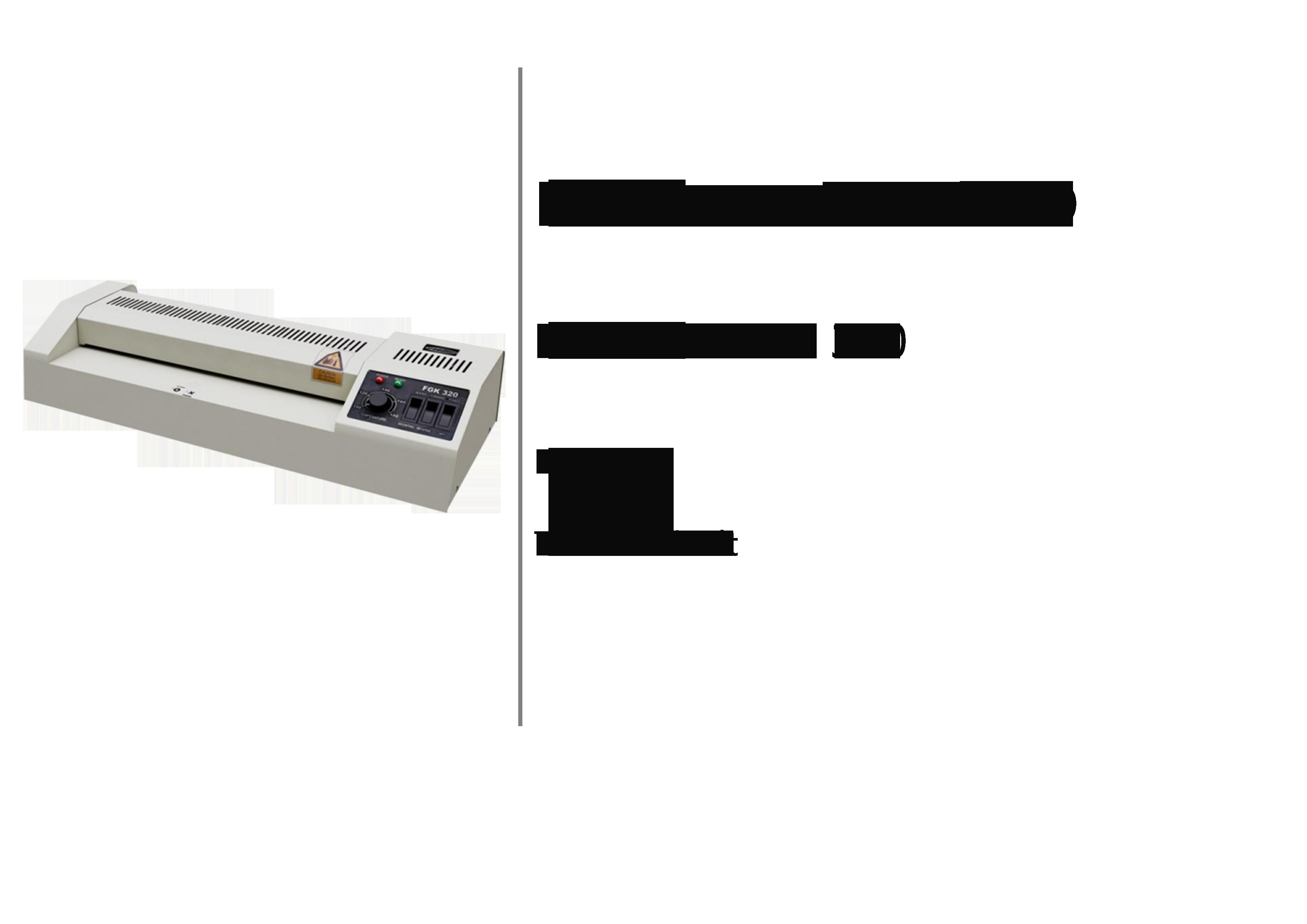 Finish Solution plastificadora FGK 320